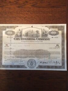 City Investing Co 8 1991 Dated 1974 1000 Shares INVALID SHARE CERTIFICATE - sittingbourne, Kent, United Kingdom - City Investing Co 8 1991 Dated 1974 1000 Shares INVALID SHARE CERTIFICATE - sittingbourne, Kent, United Kingdom