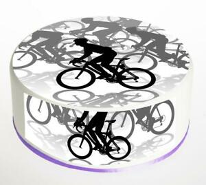Personalised Edible Cycling Cake Topper Icing or Wafer Paper