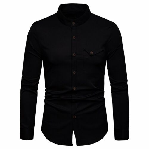 Men/'s Luxury Casual Formal Shirt Long Sleeve Slim Fit Business Dress Shirts Tops
