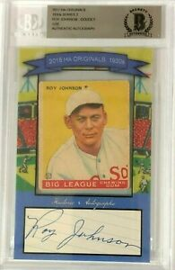 Roy-Johnson-Red-Sox-2017-HA-Originals-1930-039-s-1933-Goudey-Card-amp-Cut-Auto-1-20