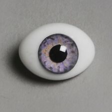 Dollmore Eyes  Paperweight 12mm Classic Flat Back Oval Glass Eyes CC02