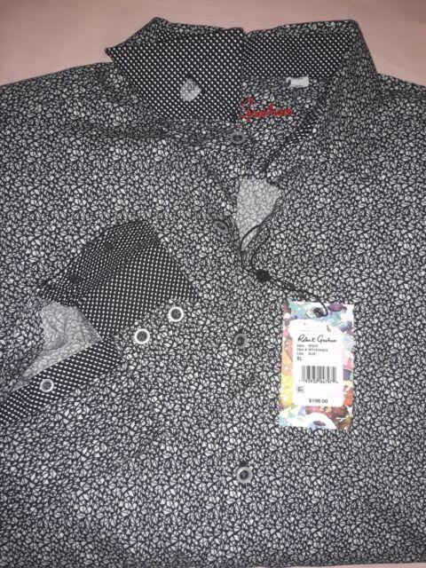 ROBERT GRAHAM Dever Mens Shirt Classic Fit, Long Sleeve, Color Blue,Size XL NWT