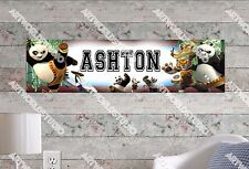 Personalized/Customized Kung Fu Panda Name Poster Wall Art Decoration Banner