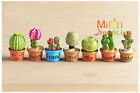 Lot of 7 PCS 1/12 Dollhouse Miniature Toy Resin Plant Floral Cactus height 3.4CM