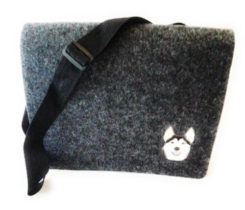 EL BURRO fieltro Damentasche Filztasche Schultertasche Messenger grau schwarz