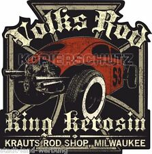 411 King Kerosin Volks Rod Aufkleber Sticker Oldschool Youngtimer Tuning Käfer