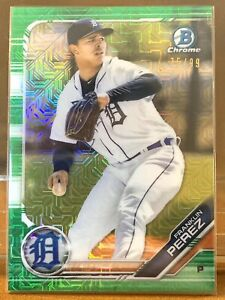 2019-Bowman-Chrome-Draft-Franklin-Perez-Tigers-RC-Green-Refractor-75-99