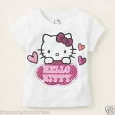 Hello Kitty Glittery Short Sleeve Tee Shirt ~ Size 18-24 Months ~ New With Tags