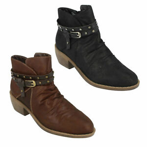 Talon Décontractés Pour Noir Moyen F5r0948 boy Bottines Cow Earth To Down Dames paxwzAq