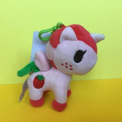 RARE Tokidoki Plush Unicorno Fraise Poney kawaii anime keychain bag charm