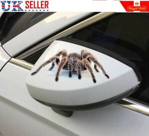 Details about Two 3D Spider Stickers - Car Motorbike Helmet Bumper Animal,  Scary Prank - UK