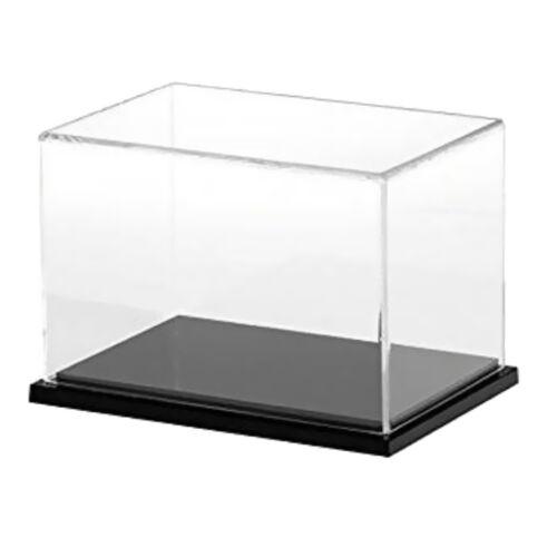 "8/""x4/""x4/"" Transparent Acrylic Display Case Dustproof Assembled Model Show Box"