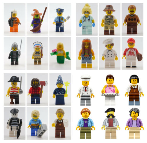 LEGO 15 NEW LEGO MINIFIGURES /& ACCESSORIES  SERIES BOY GIRL TOWN PEOPLE SET