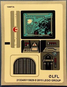 Imperial Shuttle Tydirium Star Wars STICKER SHEET LEGO 75094
