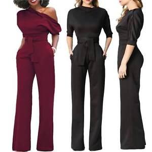 Abiti Eleganti Pantaloni.Tuta Elegante Pantaloni Lunghi Vestito Abito Cerimonia Da Donna Ebay
