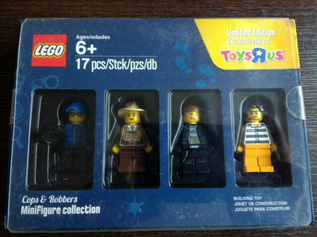 R Us Cops 5004574 Set Robbers Toys Lego Limited Edition Minifigures OP8nw0k