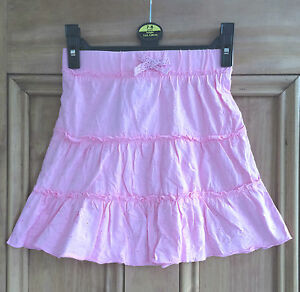 George-asda-new-light-pink-broderie-anglaise-style-jupe-UK-6-10-Ans-Bnwt