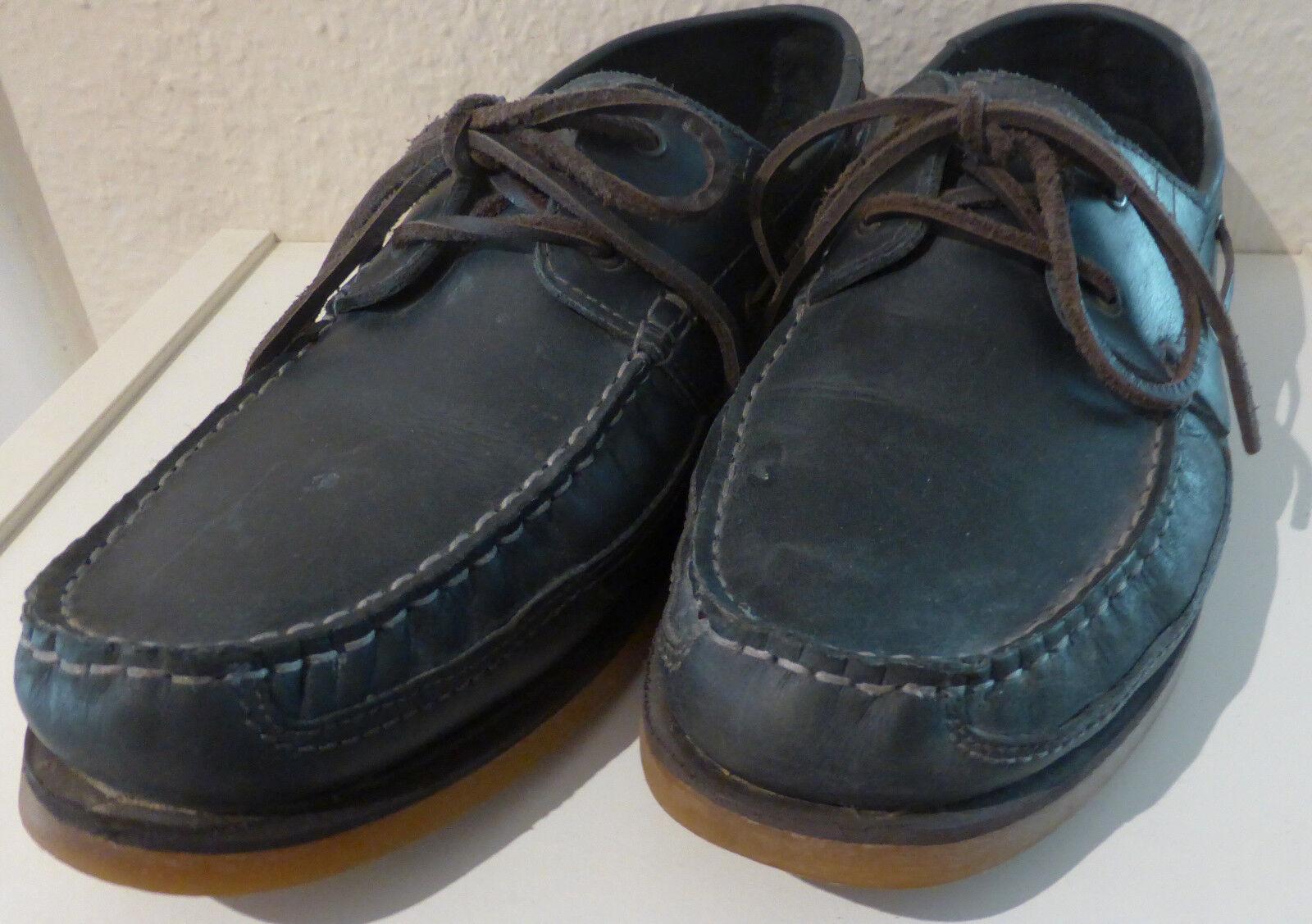 Klassische Docksider / Stiefelschuhe blau Gr. 42