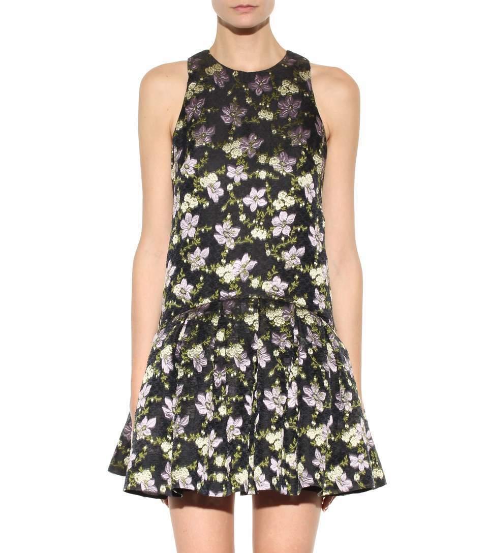 NWT Alexander McQueen Floral Jacquard sleeveless Dress Size 38