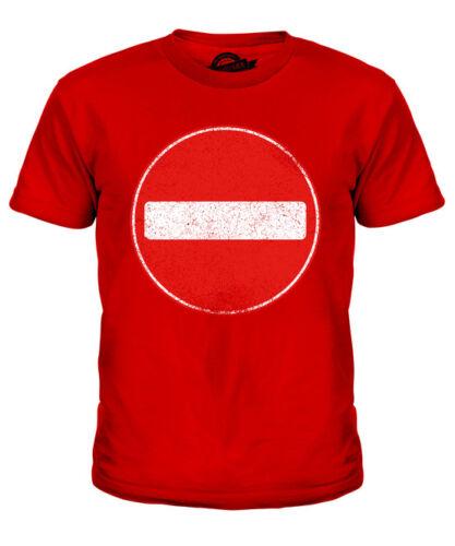 Nessun segno di entrata Bambini T-Shirt Tee Top Regalo Cartello Stradale Attenzione