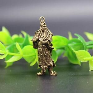 Chinese pure brass guan gong small pendant