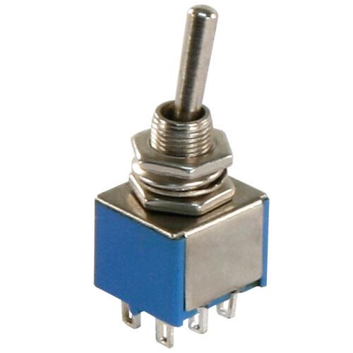 Mini Bascule 6 Broches 2 positions on//un 250 V 3 A Miniature Interrupteur Interrupteur