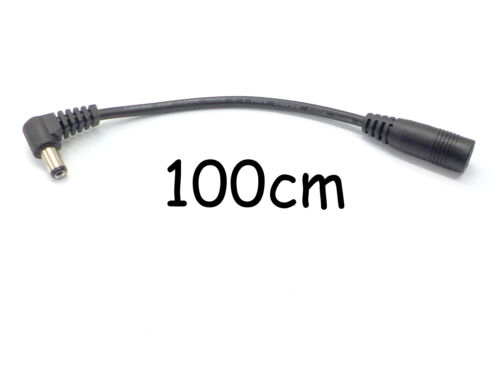 DC POWER ADAPTER CABLE 5.5mm x 2.5mm RIGHT ANGLE 90° CONVERTOR EXTENSION