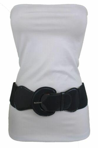 Fun Women Fashionable Wide Dark Gray Casual Look Belt High Waist Stretch Hip M L