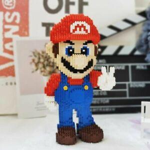 Video Game Super Mario Victory Mario Hero 3D Model DIY Mini Building Blocks Set
