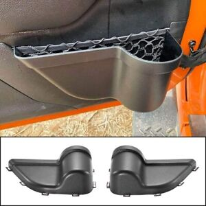 Front Door Storage Pocket Organizer Box for Jeep Wrangler JK JKU 2//4Door 2011+