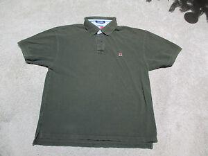 cc79249d VINTAGE Tommy Hilfiger Polo Shirt Adult Large Sport Flag Logo Green ...