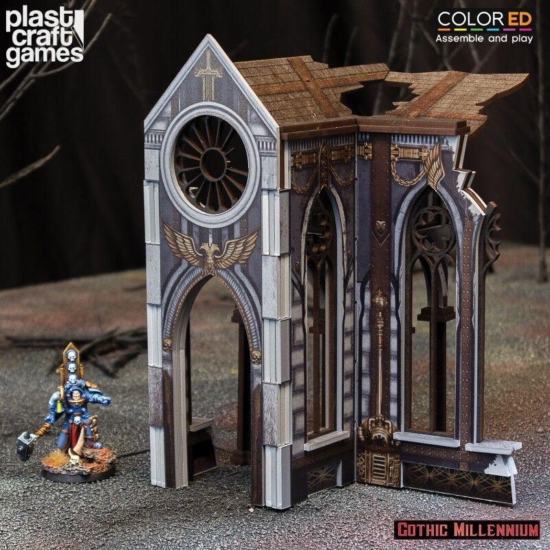 Plast Craft Games colord Cathedralis Side Porch Gothic Millennium box new