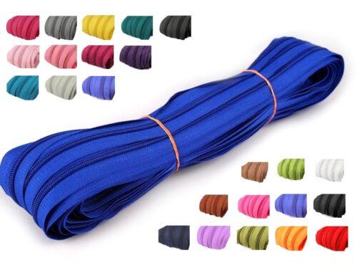 2 m endlos Reißverschluss 3 mm Laufschiene 5 Zipper Meterware teilbar Farbwahl