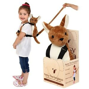 Pipsy-Koala-Kenny-Kangaroo-Child-Backpack-Safety-Pouch-Harness-amp-Rein-Brown