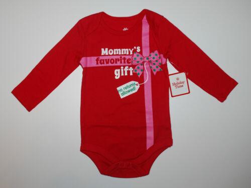 Weihnachten~Langarmbody~USA~62-68~Babybody~Spruch~rot Mommy~Geschenk~Mädchen~neu