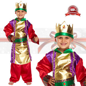 Details about Boys Wise Man King Costume Christmas Fancy Dress Child  Nativity Play Kids Outfit