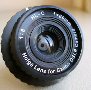 SG-Holga-HL-C-60-mm-f-8-0-Lens-Canon-DSLR-SLR-EOS-LOMO-LOMOGRAPHY-Camera-Black