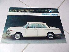 Bmw 1600 1964 catalogue brochure dépliant prospekt prospectus