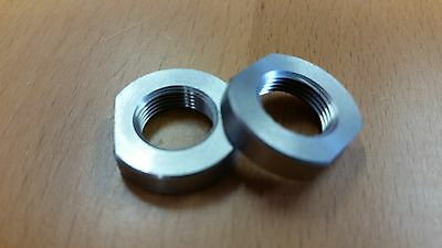"""9MM 1//2/"""" x 36 tpi Jam Nut Crush Washer Stainless Steel  for Muzzle Brake #4037"""