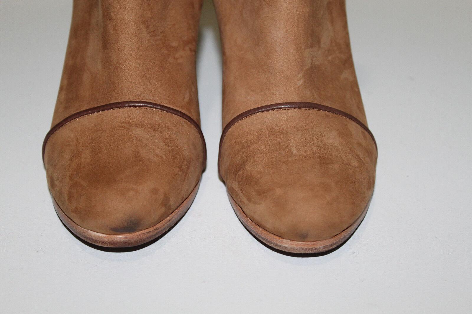 Rag & & Rag Bone 9.5 39.5 Kinsey Carmel Tan Suede Braun Strap Ankle Heel Bootie schuhes 7546ab
