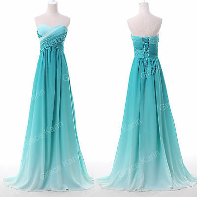 GIFT XMAS~Ombre Evening Formal Ball Gown Party Prom Dresses Wedding Dresses Long
