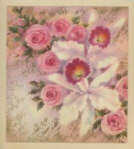 VINTAGE-PINK-ROSES-WHITE-ORCHID-SHABBY-GARDEN-FLOWERS-CHIC-PICTURE-ART-PRINT