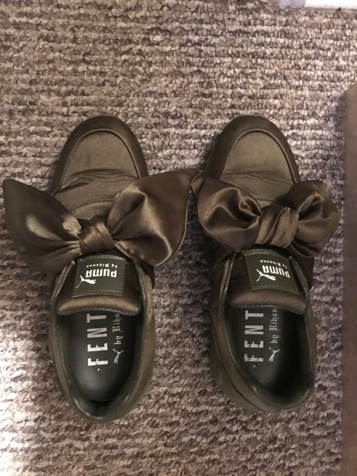 Olive Green Fenty Bow Sneakers Rihana size 8
