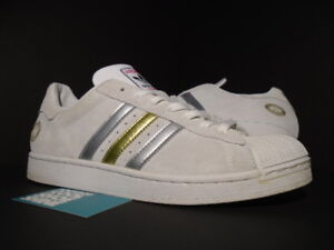 2005 ADIDAS SUPERSTAR MUSIC BAD BOY ENTERTAINMENT WHITE SILVER GOLD PK 133631 11