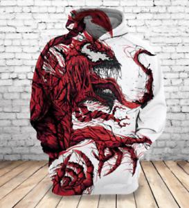 Personnaliser la section Design Venin d/'impression 3D Sweats à capuche Hommes Femmes Casual Pull Sweat