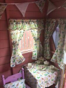 New Dinosaur Den Playhouse Wendy Summer House Cubby House Curtains Ebay