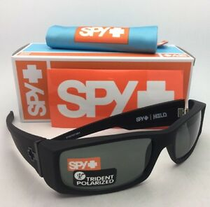 bf124b86da1 Polarized SPY OPTIC Sunglasses HIELO Soft Matte Black Frame w  Grey ...