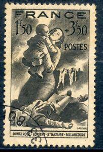 Infatigable Stamp / Timbre De France Oblitere N ° 584 Secours National