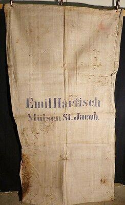 Hart Arbeitend 3 Stück Alter Sack Jutesack Jute Emil Hartisch Mülsen St.jacob I854 Alte Berufe