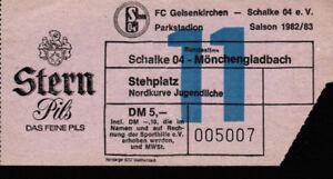 Ticket-BL-82-83-FC-Schalke-04-Borussia-Moenchengladbach-Nordkurve